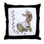 Cute Girl Cartoon Goat Throw Pillow