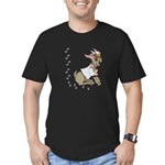 Cute Girl Cartoon Goat Men's Fitted T-Shirt (dark)