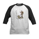 Cute Girl Cartoon Goat Kids Baseball Jersey
