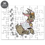 Cute Girl Cartoon Goat Puzzle
