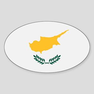 Cyprus flag Sticker (Oval)