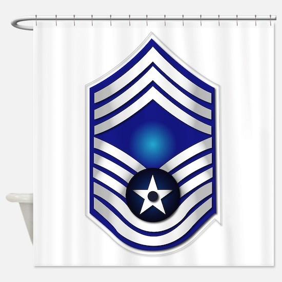 USAF - CMSgt(E9) - No Text Shower Curtain