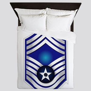USAF - CMSgt(E9) - No Text Queen Duvet