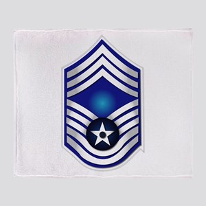USAF - CMSgt(E9) - No Text Throw Blanket