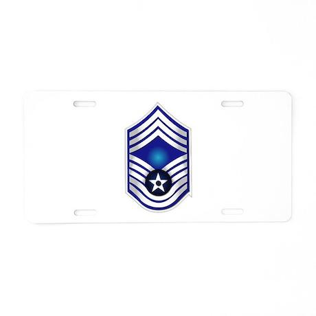 USAF - CMSgt(E9) - No Text Aluminum License Plate