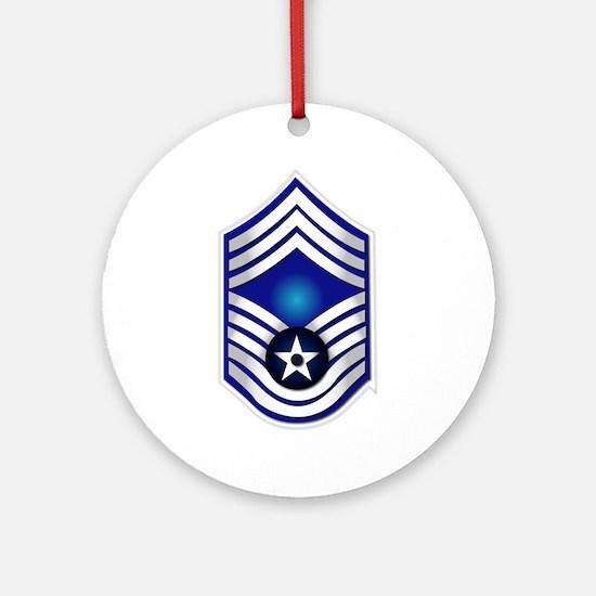 USAF - CMSgt(E9) - No Text Ornament (Round)