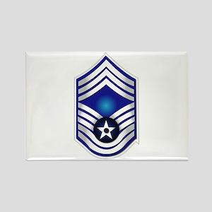 USAF - CMSgt(E9) - No Text Rectangle Magnet