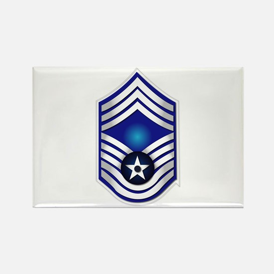 USAF - CMSgt(E9) - No Text Rectangle Magnet (10 pa