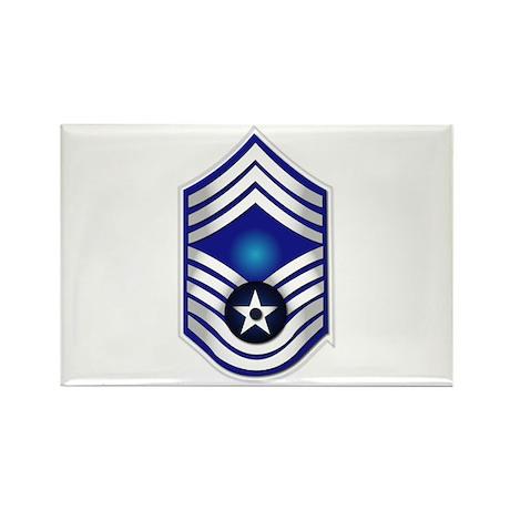 USAF - CMSgt(E9) - No Text Rectangle Magnet (100 p
