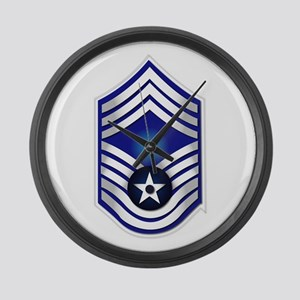 USAF - CMSgt(E9) - No Text Large Wall Clock