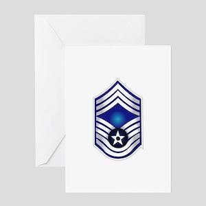 USAF - CMSgt(E9) - No Text Greeting Card