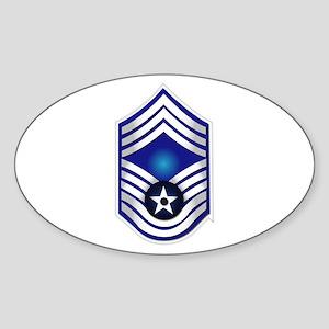 USAF - CMSgt(E9) - No Text Sticker (Oval)