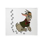 Cute Cartoon Boy Goat Throw Blanket