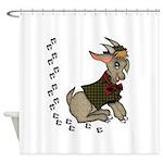 Cute Cartoon Boy Goat Shower Curtain