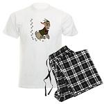 Cute Cartoon Boy Goat Men's Light Pajamas