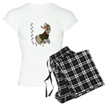 Cute Cartoon Boy Goat Women's Light Pajamas