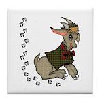 Cute Cartoon Boy Goat Tile Coaster