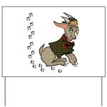 Cute Cartoon Boy Goat Yard Sign