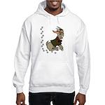 Cute Cartoon Boy Goat Hooded Sweatshirt
