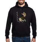 Cute Cartoon Boy Goat Hoodie (dark)
