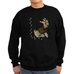 Cute Cartoon Boy Goat Sweatshirt (dark)