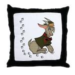 Cute Cartoon Boy Goat Throw Pillow