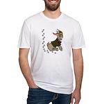 Cute Cartoon Boy Goat Fitted T-Shirt
