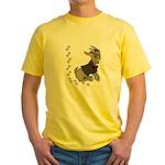 Cute Cartoon Boy Goat Yellow T-Shirt