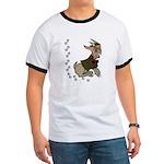 Cute Cartoon Boy Goat Ringer T