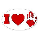 ILUVUAFC Sticker (Oval 50 pk)