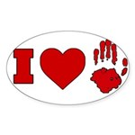 ILUVUAFC Sticker (Oval 10 pk)