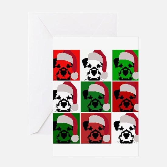 New Warhol Santa hat.png Greeting Card
