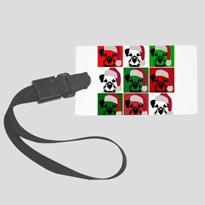 New Warhol Santa hat Large Luggage Tag