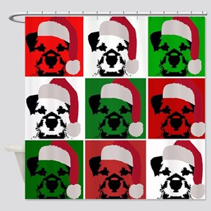 New Warhol Santa hat Shower Curtain