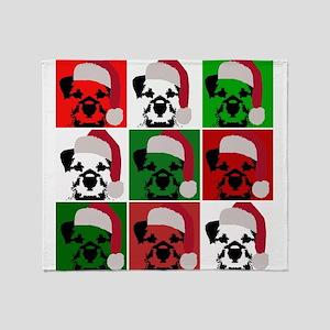 New Warhol Santa hat Throw Blanket