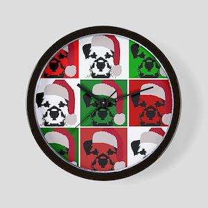 New Warhol Santa hat Wall Clock