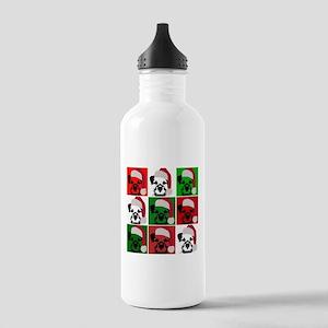 New Warhol Santa hat Stainless Water Bottle 1.