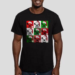 New Warhol Santa hat Men's Fitted T-Shirt (dar