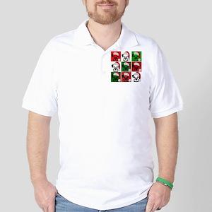 New Warhol Santa hat Golf Shirt