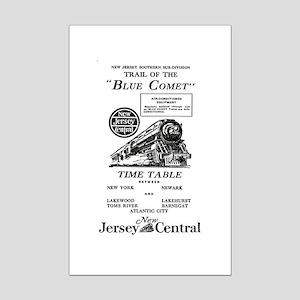 The Blue Comet Mini Poster Print