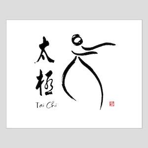 Tai Chi form and kangi Small Poster