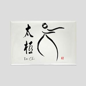 Tai Chi form and kangi Rectangle Magnet