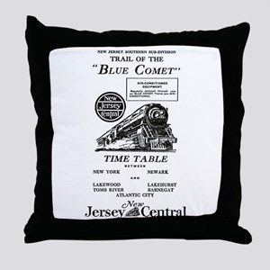 The Blue Comet Throw Pillow