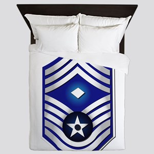 USAF - 1stSgt (E9) - No Text Queen Duvet