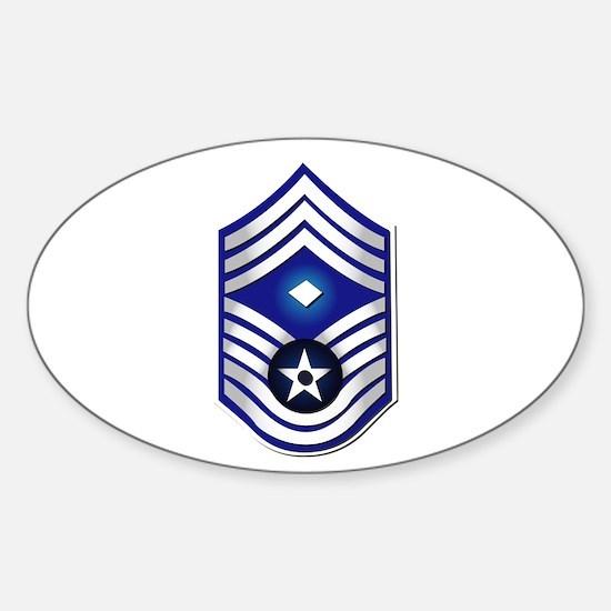 USAF - 1stSgt (E9) - No Text Sticker (Oval)
