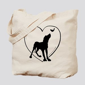Dog Butterfly Tote Bag