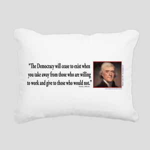 Thomas Jefferson on Democracy Rectangular Canvas P