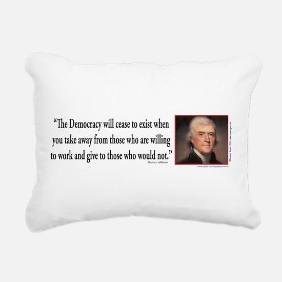 Thomas Jefferson on Democracy Rectangular Canvas P