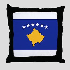 Kosovo flag Throw Pillow