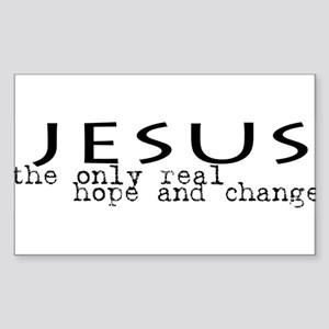 Jesus: the only real HOPE and Oval Sticker